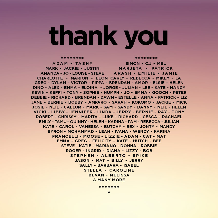 Thank you - Nourish the Guide